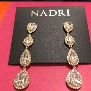 Nadri Crystal Drop Earrings NWT